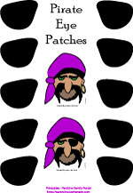 Pirate eyepatch pin the patch on the pirate game