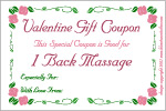 Valentine Gift Certificate Love Coupons