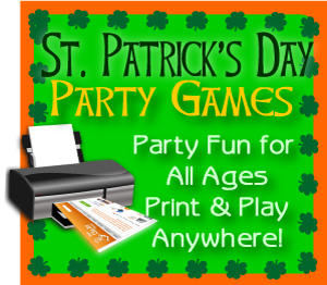 Print Games Now St. Patrick's Day party printables