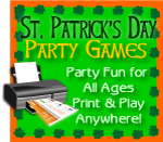 Print games St. Patrick's Day party fun