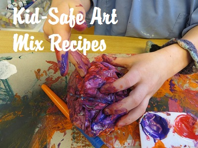 Kids art mix recipes to make at home