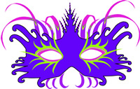 Mardi Gras Mask printable